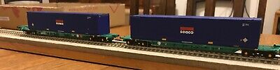 Bachmann 37-302 Intermodal Bogie Wagon 2 X 45ft Containers Seco Livery • 28.13€