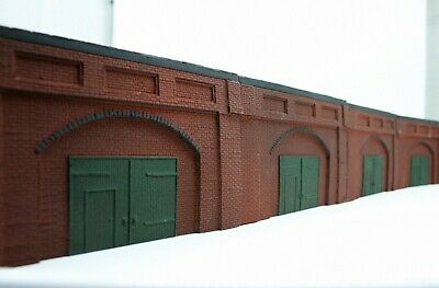 4 X Detailed Model Railway Retaining Wall With Workshop For HO/ OO Plaster New 7 • 16.84€