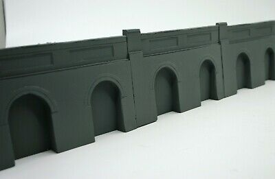 5 X Detailed Model Railway Retaining Wall With Aches For HO / OO New 03 • 16.84€