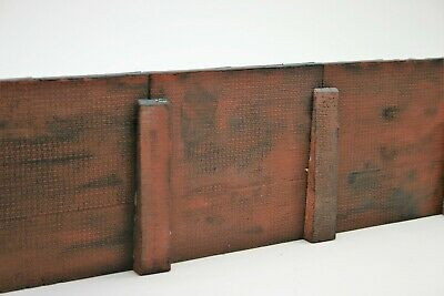 4 Sections Detailed Model Railway Brown Retaining Wall 03 • 16.84€