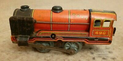 Hornby Track, Tin Engine 490 And Aurelia Carriage Vintage In Box • 19.20€