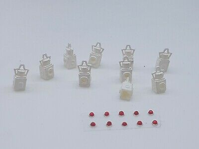 10 X O Gauge Tail Lamps Model Railway White 002 • 5.66€