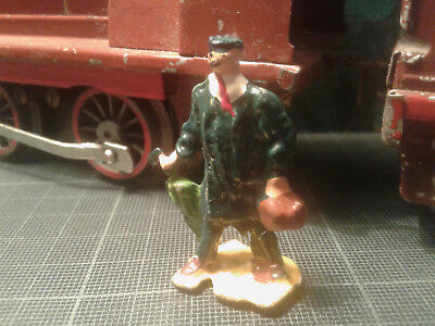 Ancien Personnage Figurine Plomb Ech. O HORNBY DINKY MDM - Homme Parapluie  • 20€