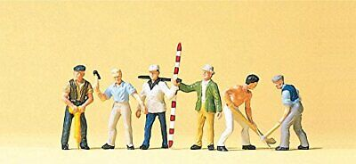 Road Construction Workers W/Accessories (6) HO Scale Preiser Models • 26.65€