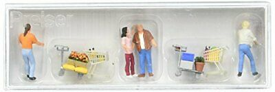 Preiser 10722 Shoppers With Shopping Carts Package4 HO Model Figure • 40.11€