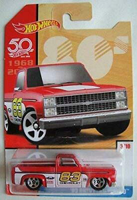 Hot Wheels 80s, RED 83 CHEVY SILVERADO 3/10 50TH ANNIVERSARY • 38.38€