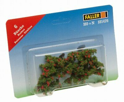 Faller 181476 Bushes W Flwrs 6 Scenery Accessories Building Kit, Red • 78.75€