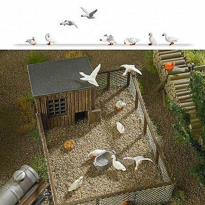 Busch 1195 Domestic Geese 8HO Scale Scenery Kit • 47.23€
