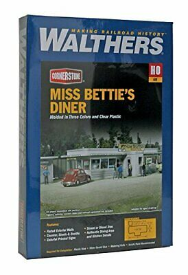Walthers Cornerstone Series Kit HO Scale Miss Betties Diner • 111.74€