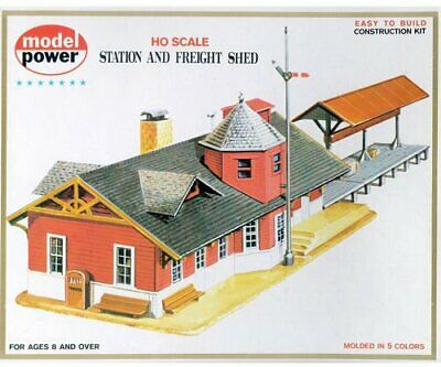 Model Power HO Scale Building Kit - Station And Freight Shed • 60.50€
