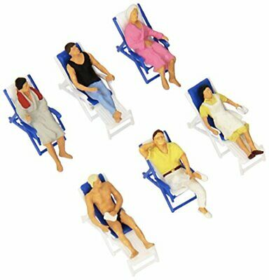 People Resting On Deck Chairs  Preiser Ho Scale Model Train Figures 10437 • 44.62€