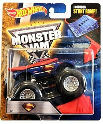 Monster Jam Hot Wheels 164 Scale  Superman With Stunt Ramp 41 • 80.87€