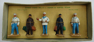 Dinky Toys Train And Hotel Staff No 5 Made In England By Meccano Ltd • 6.27€