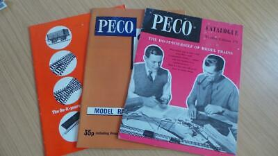 AC316: Peco Railways N & OO/HO Gauge Catalogues 12th & 14th Edition X 3 • 8.44€
