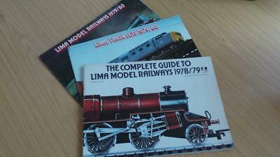 AC313: Lima Railways OO Gauge Catalogues 1979/80 X 3 • 8.44€