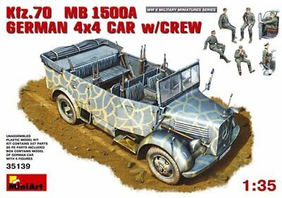 Miniart 135 - Kfz70 Mb1500agerman 4x4 Car With Crew • 67.10€