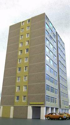 Kingsway, 00 Scale, Block Of Flats Half Relief, Ready Made. • 65.61€