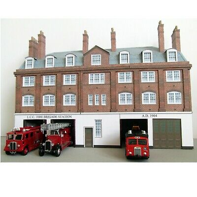 Kingsway, 00 Scale, London County Council Fire Station,  Ready Made • 76.54€