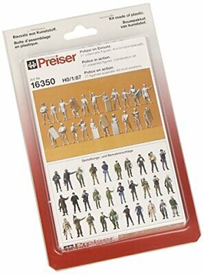 Preiser 16350 Unpainted Figure Set Assorted Police HO Model Figure • 34.06€