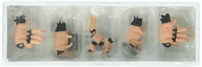 Preiser 10149 Pigs Light Brown, Black Package8 HO Model Figure • 24.03€