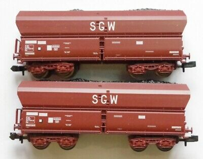 Roco 2 Wagons Sncf Tremie Sgw Avec Charbon Echelle N Reference 25236 • 39€