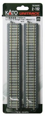 HO Gauge 2152 HO Unitrack Pc Straight Line 246mm 4 Pieces Japan Import By Cato • 38.23€