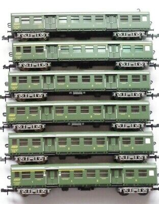 Minitrix 6 Voitures Sncf Romilly Echelle N References 13021 13022  3x13023 13024 • 179€