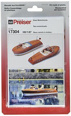 Preiser 17304 Boats Speed Boat Package2 HO Scale Vehicles Scenery Set • 47.59€