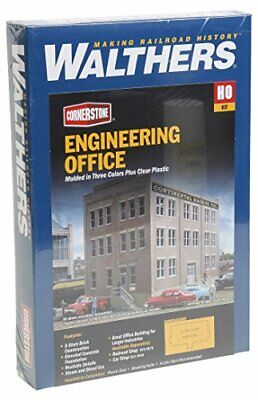 Walthers HO Scale Rail Shops Cornerstone Series174 Engineering Office Kit 101... • 72.30€