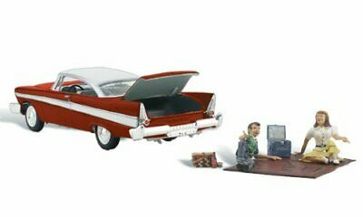 Woodland Scenics Autoscene Parked For A Picnic 1950s Type Vehicle WFigures  A... • 46.72€
