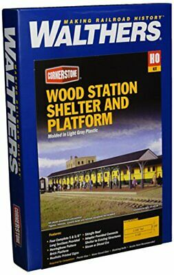 Walthers Cornerstone Series Kit HO Scale Wood Station Shed And Platform • 48.12€