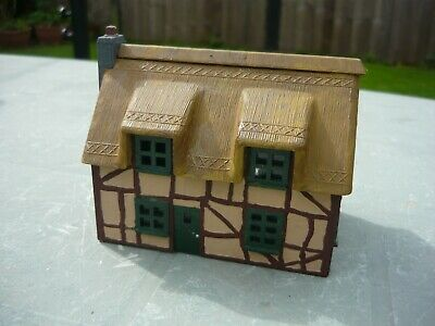 Cottage House Oo  Ho Gauge Built Dapol Kit Thatched Roof Glazing • 3.80€