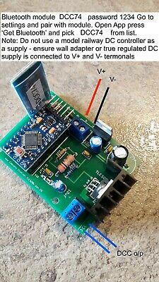 3amp DCC Controller For Model Railway, App ForAndroid Device - 4digit Address • 51.15€