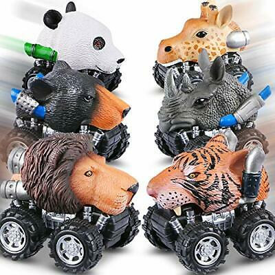 Tencoz Pull Back Cars 6 Pack Mini Dino Cars With Stickers Animal Car Vehicles... • 22.50€
