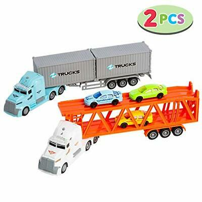 JOYIN Die-cast Truck Toy Set Includes Friction Freight Truck And Transport Ca... • 36.82€