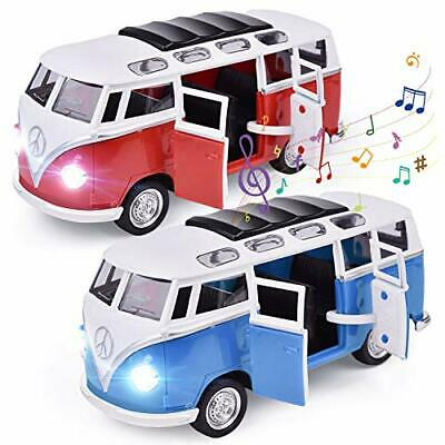 FunLittleToy 2 Pack Bus Toys Pull Back Cars Diecast Metal Toy Cars For Toddle... • 30.72€
