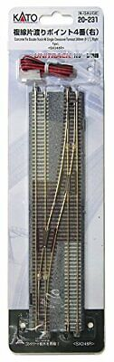 Kato N Gauge 20-231 Double-track Piece Over Point # 4 (right) • 54.13€