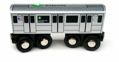 Munipals NYC Subway 4 Car Toy Train Wooden Railway Compatible • 30.45€
