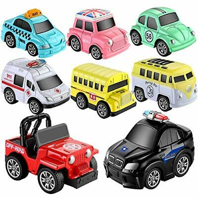 Toys Pull Back Vehicles, GEYIIE Go Car Toy Play Set, Friction Powered 8 Pack ... • 27.10€