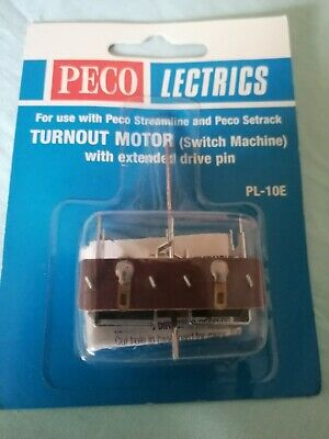 Turnout Motor PL 10E SWITCH MACHINE With Extended Drive Pin Peco Lectrics Train  • 7.59€
