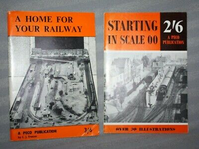 2 Vintage PECO Booklets, Starting In Scale & A Home For Your Railway, Trackplans • 5.57€