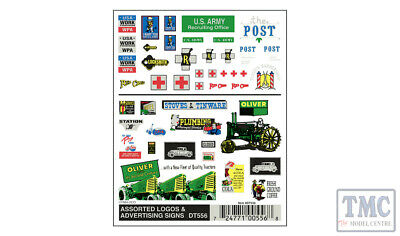 DT556 Woodland Scenics O/HO/N Scale Assorted Logos & Advertising Signs • 8.18€