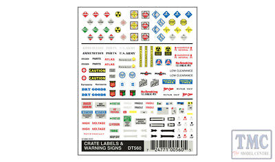 DT560 Woodland Scenics O/HO/N Scale Crate Labels & Warning Signs • 8.18€
