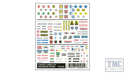 DT560 Woodland Scenics O/HO/N Scale Crate Labels & Warning Signs • 8.25€