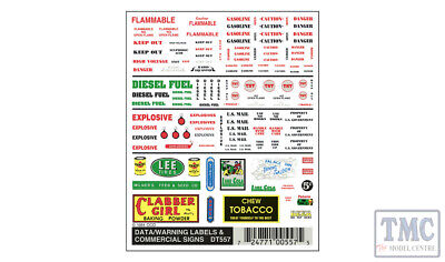 DT557 Woodland Scenics O/HO/N Scale Data Warning Label & Commercial Signs • 8.18€