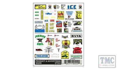 DT554 Woodland Scenics O/HO/N Scale Product & Advertising Signs • 8.25€