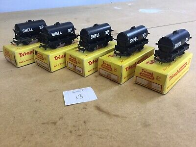 Triang TT Excellent Lot 13 X5 T.75 Shell Oil Tankers • 29.25€