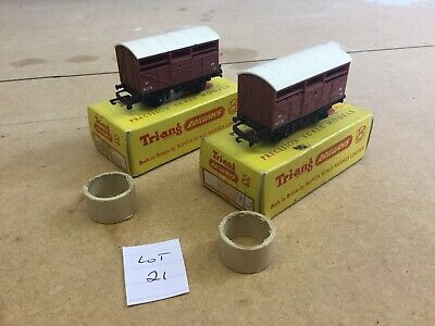 Triang TT Excellent Lot 21 T.77 Cattle Wagon X2 Boxed • 16.88€