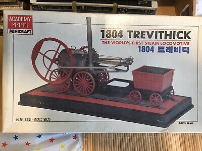 Academy 1/38th Scale 1804 Trevithick Model Kit, Train Kit,  Minicraft • 16.78€