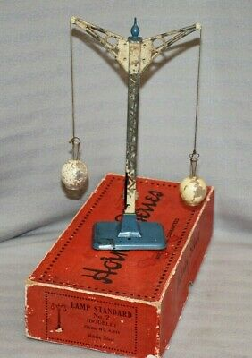 Vintage Hornby O Gauge Double Lamp Standard, Glass Globes, Original Box 1933-36 • 131.20€